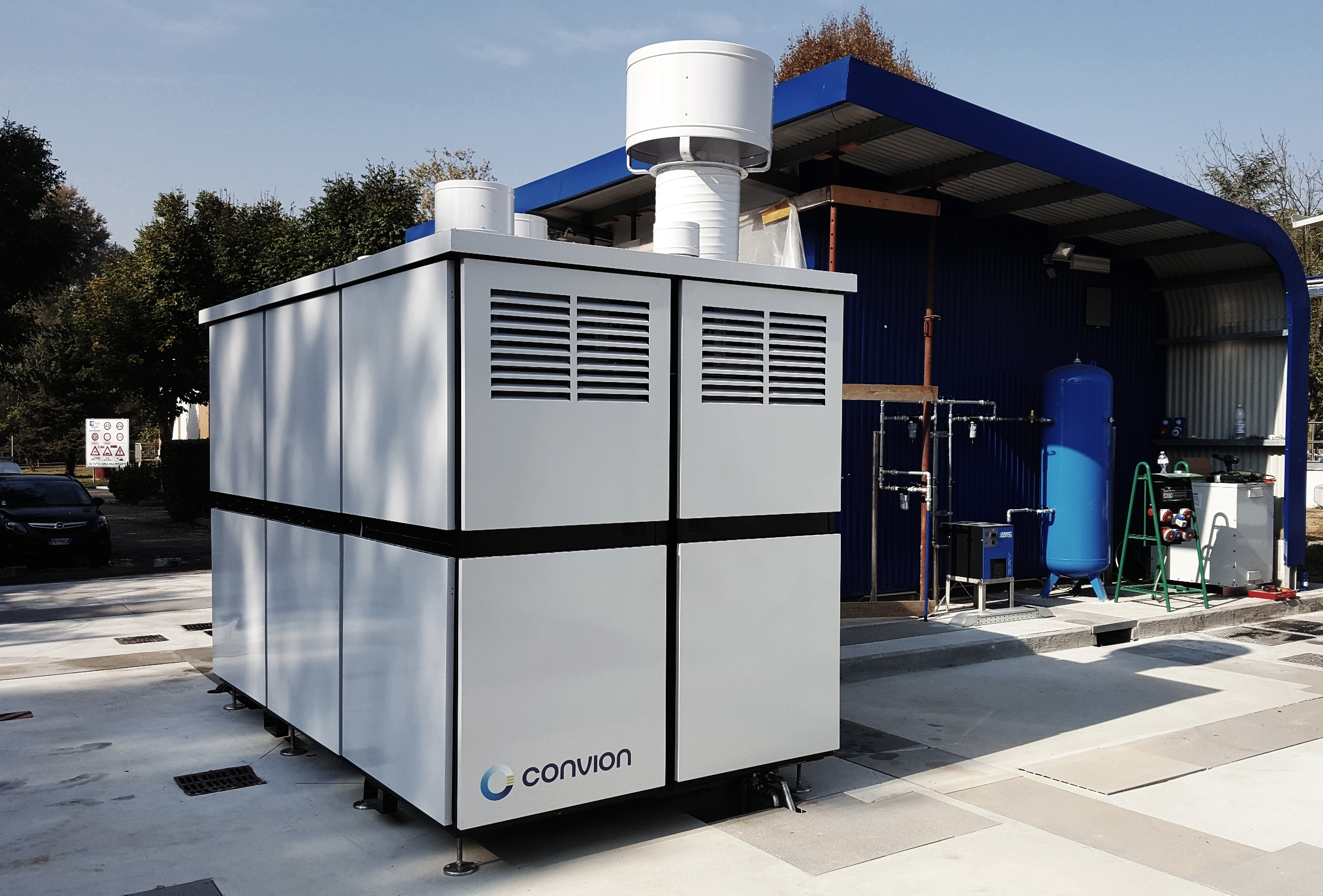 Convion C50 biogas SOFC installed at the Collegno WWTP